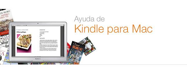 Ayuda de Kindle para Mac