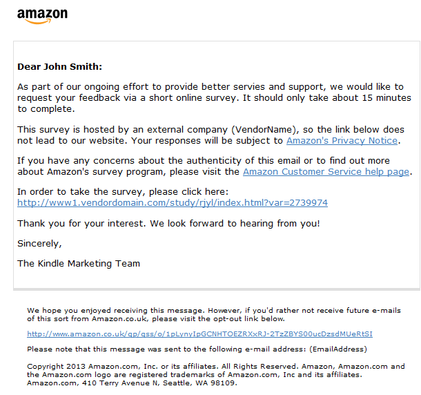 Christmas Gift Exchange Questionnaire.Amazon Co Uk Help About Amazon Consumer Survey E Mails