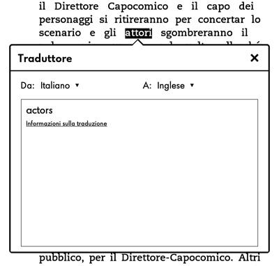 Esempio di traduzione su Kindle Touch