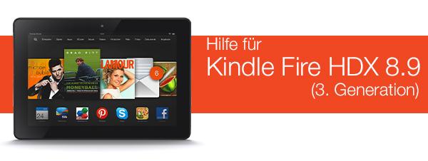 Hilfe für Kindle Fire HDX 8.9