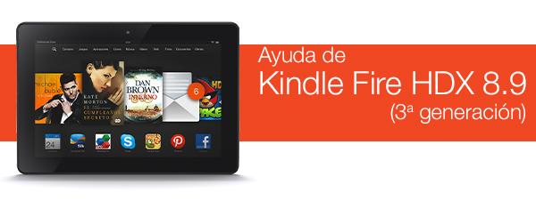 """Ayuda de Kindle Fire HDX 8,9"""" (3ª generación)"""