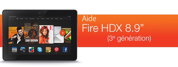 """Aide pour le Kindle Fire HDX 8.9"""""""