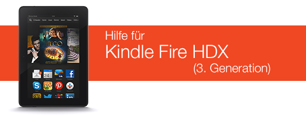 Kindle Fire HDX Hilfe
