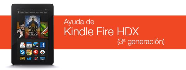 Ayuda de Kindle Fire HDX (3ª generación)