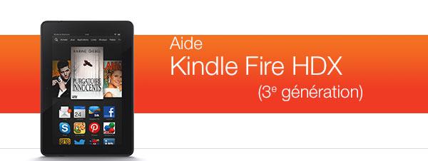 Aide pour le Kindle Fire HDX