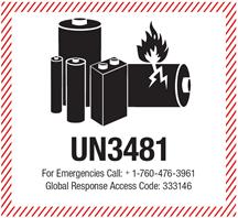 Étiquette UN3481