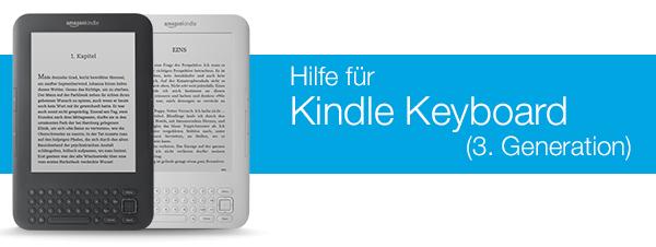 Kindle Keyboard Hilfe