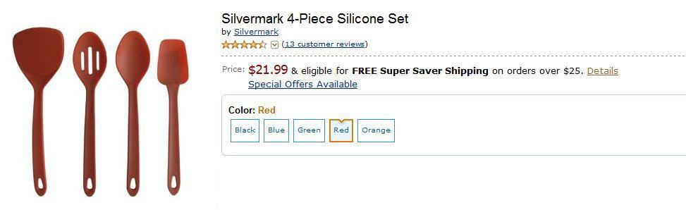 Productos idénticos que sólo varían en color: