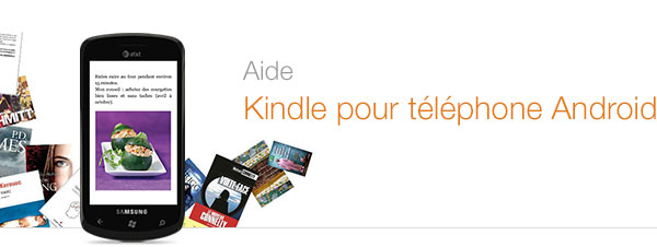 Aide Kindle pour téléphones Android