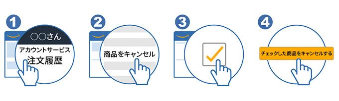 Amazonで注文をキャンセルする方法