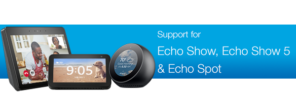 amazon.com Ayuda: Echo Devices with a Screen Support