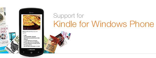 Kindle for Windows Phone Help