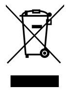 Warning label showing a wheeled bin with cross through it