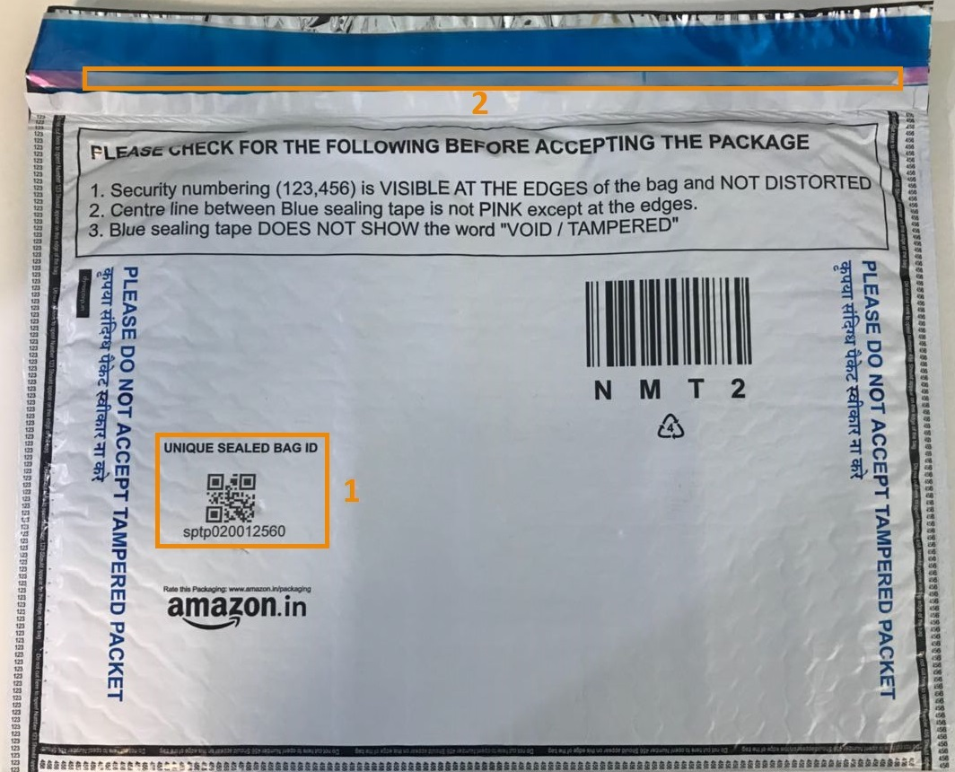 Amazon in Help: Secured Delivery with Tamper-evident Packaging