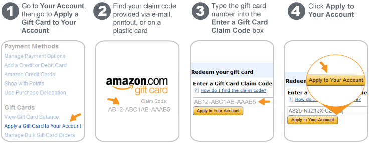 Amazoncom Help Apply A Gift Card To Your Account