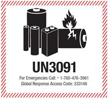 UN3091 Etikett