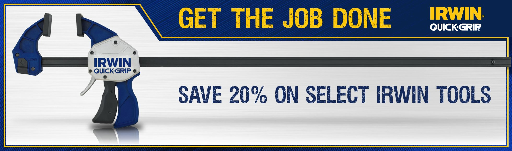 20% off select Irwin tools