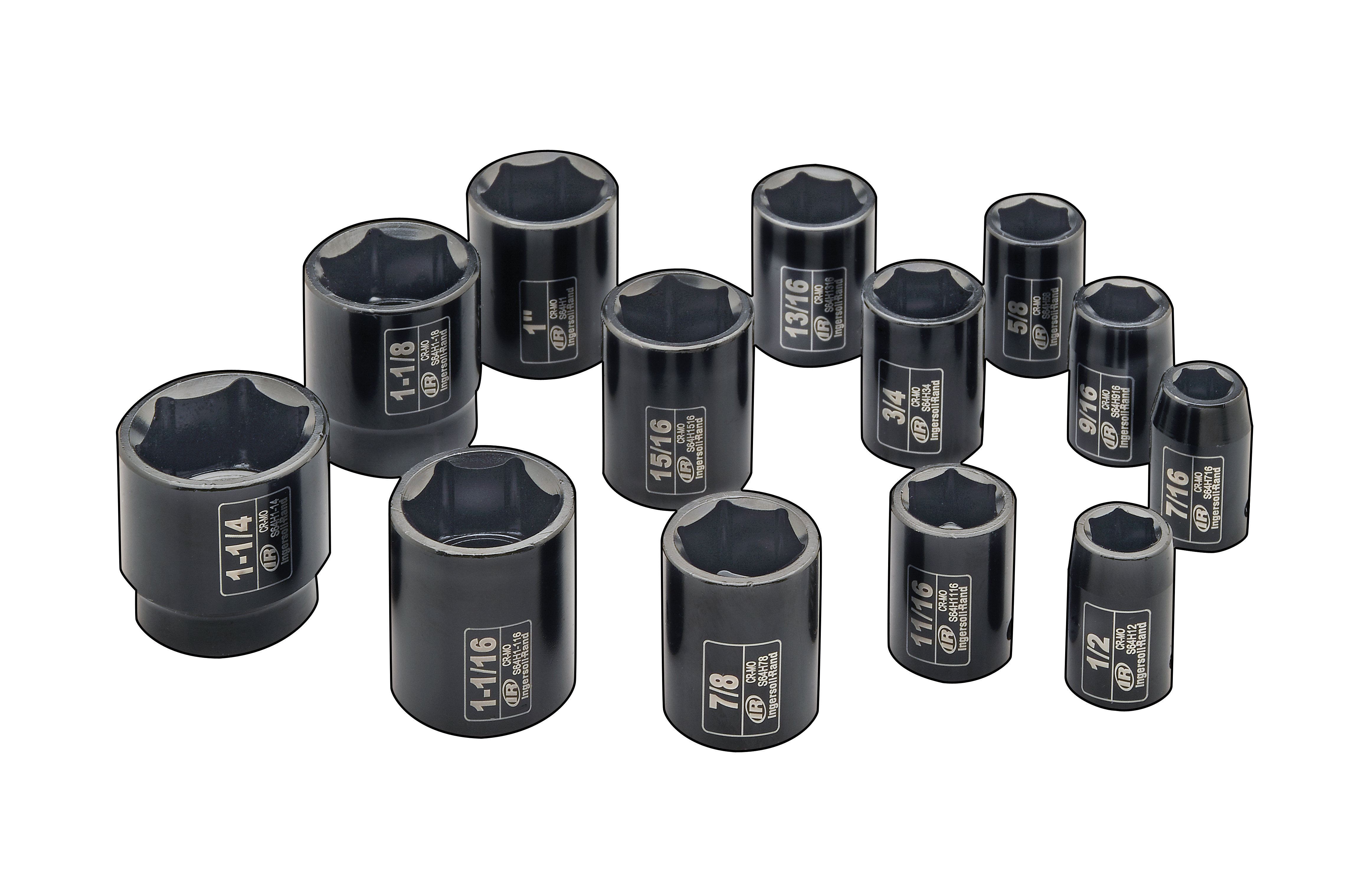 Amazon Com Ingersoll Rand Sk4h13 1 2 Inch Drive 13 Piece Sae Standard Impact Socket Set Home Improvement