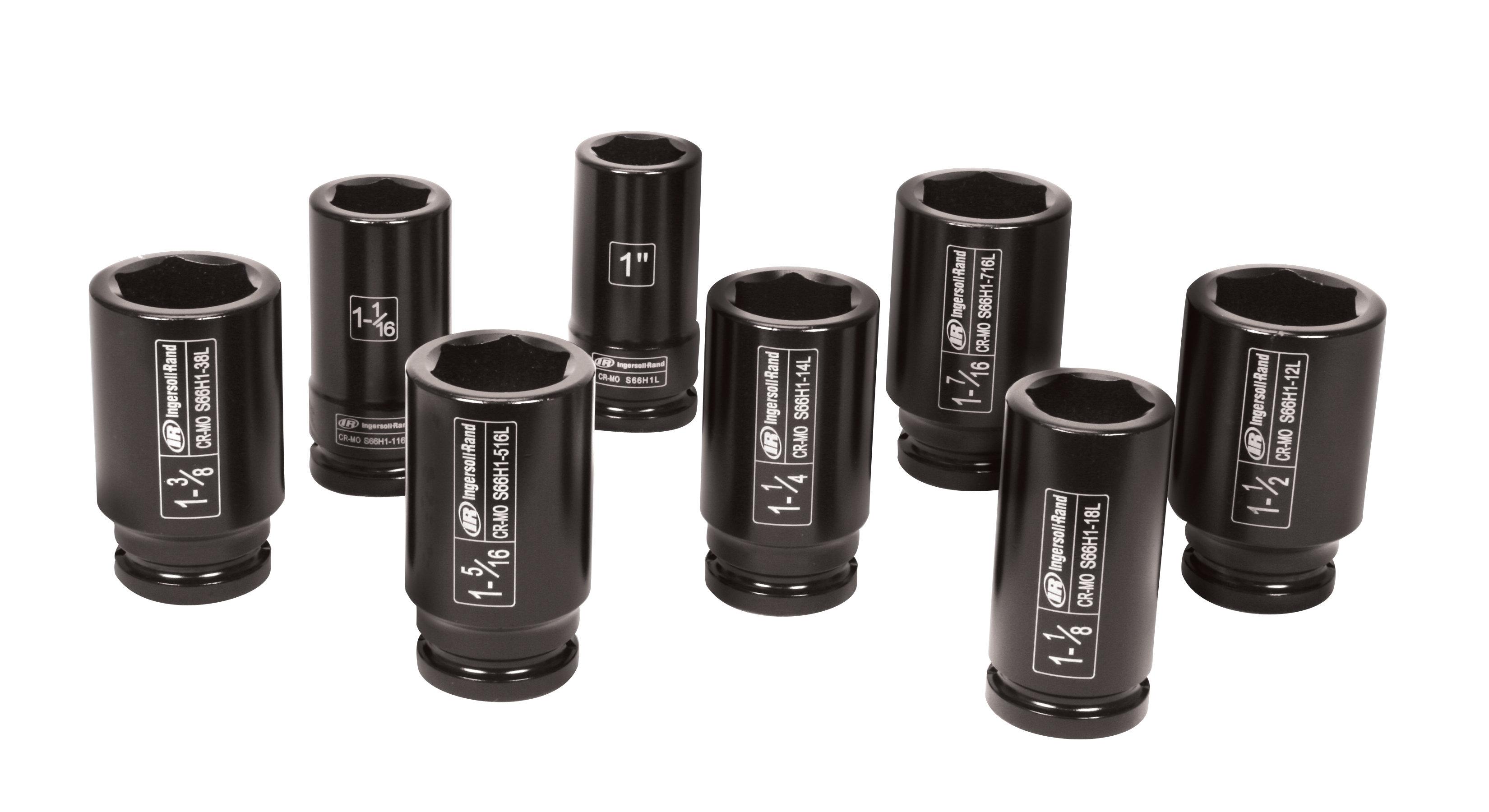 Amazon Com Ingersoll Rand Sk6h8l 3 4 Inch Drive 8 Piece Sae Deep Impact Socket Set Home Improvement