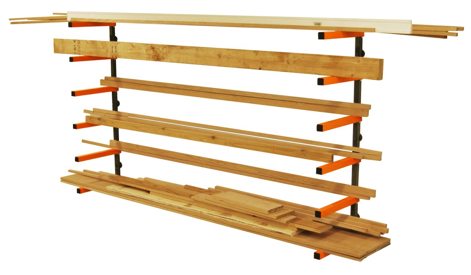 Lumber Storage Rack Portamate Pbr 001 Six Level Wall