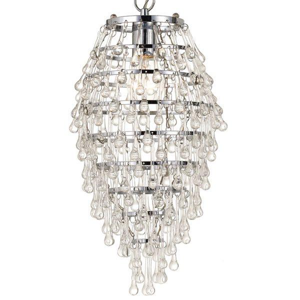 Af lighting 8122 1h crystal teardrop chandelier clear chrome and see larger image part of aflightings aloadofball Gallery