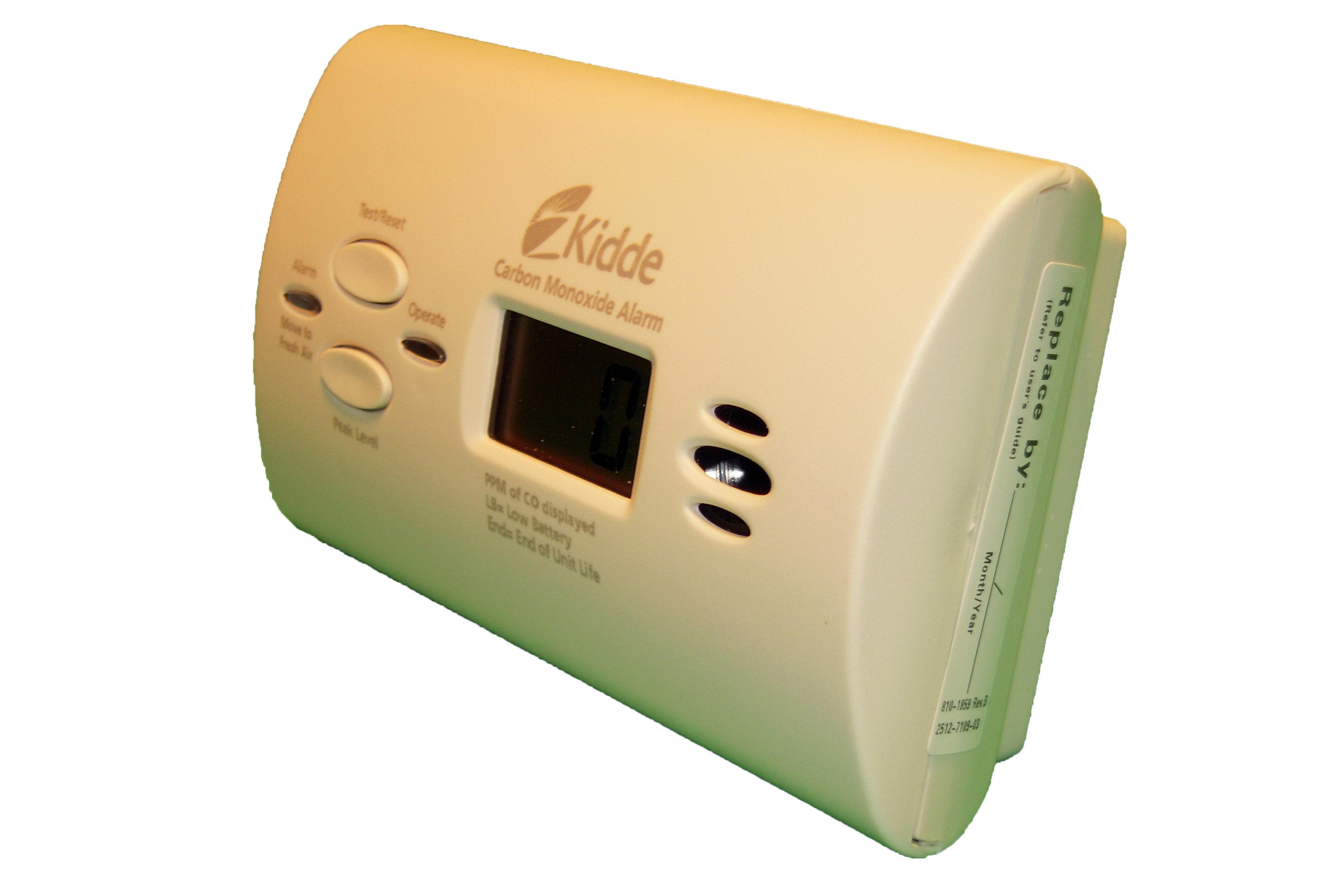 kidde battery operated carbon monoxide alarm with digital. Black Bedroom Furniture Sets. Home Design Ideas
