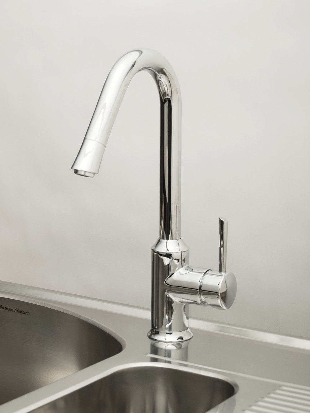 charming American Standard Kitchen Sink Faucets #2: The American Standard Pekoe pull-down kitchen faucet will keep its finish  throughout its lifetime