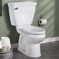 Lifestyle picture of the Champion toilet seat on an American Standard toilet