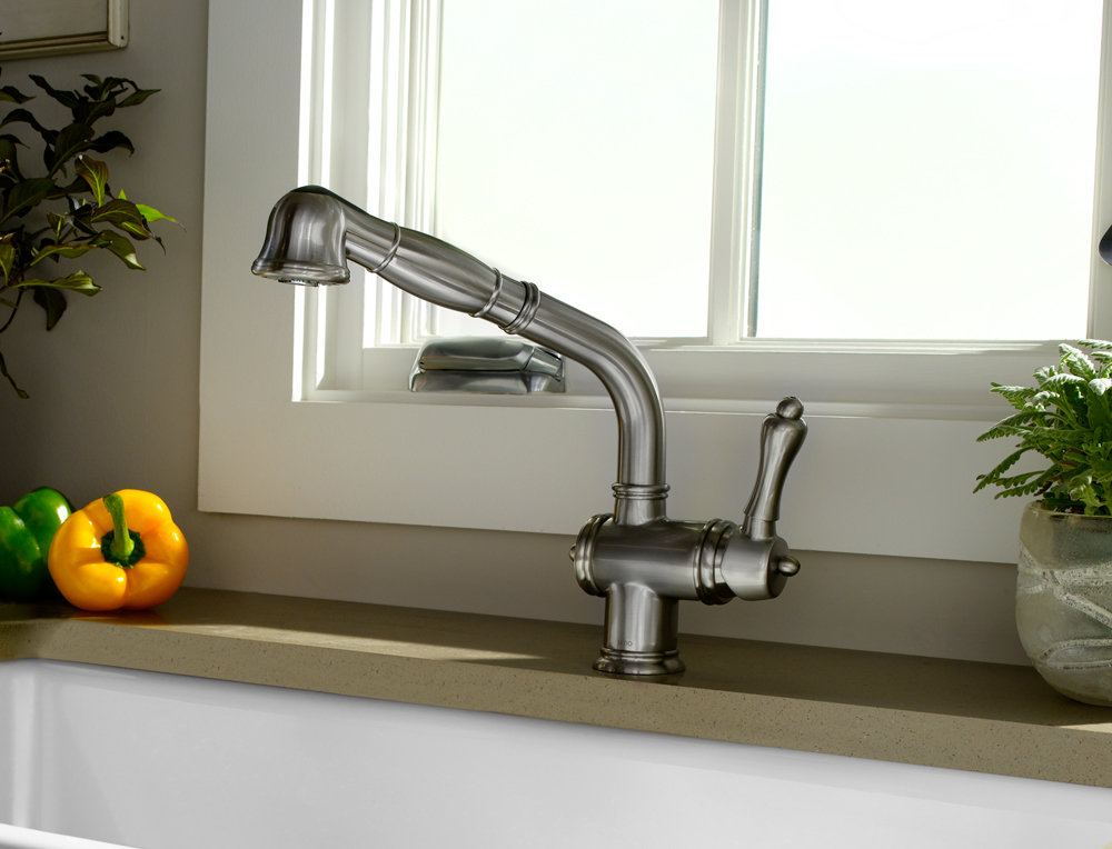 Jado 850/850/144 Victorian Single Lever Kitchen Faucet with Pull Out ...