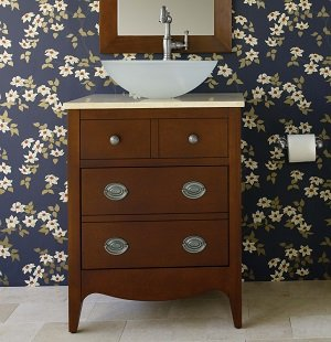 The Jefferson vanity installed in a traditional bathroom setting