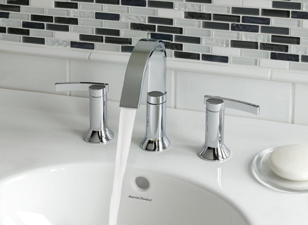 Luxury Artisitic Polished Brass Bathroom Faucet Vessel: American Standard 7430801.002 Berwick Widespread Lavatory