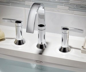 The Berwick faucet is the perfect complement to a bathroom sink