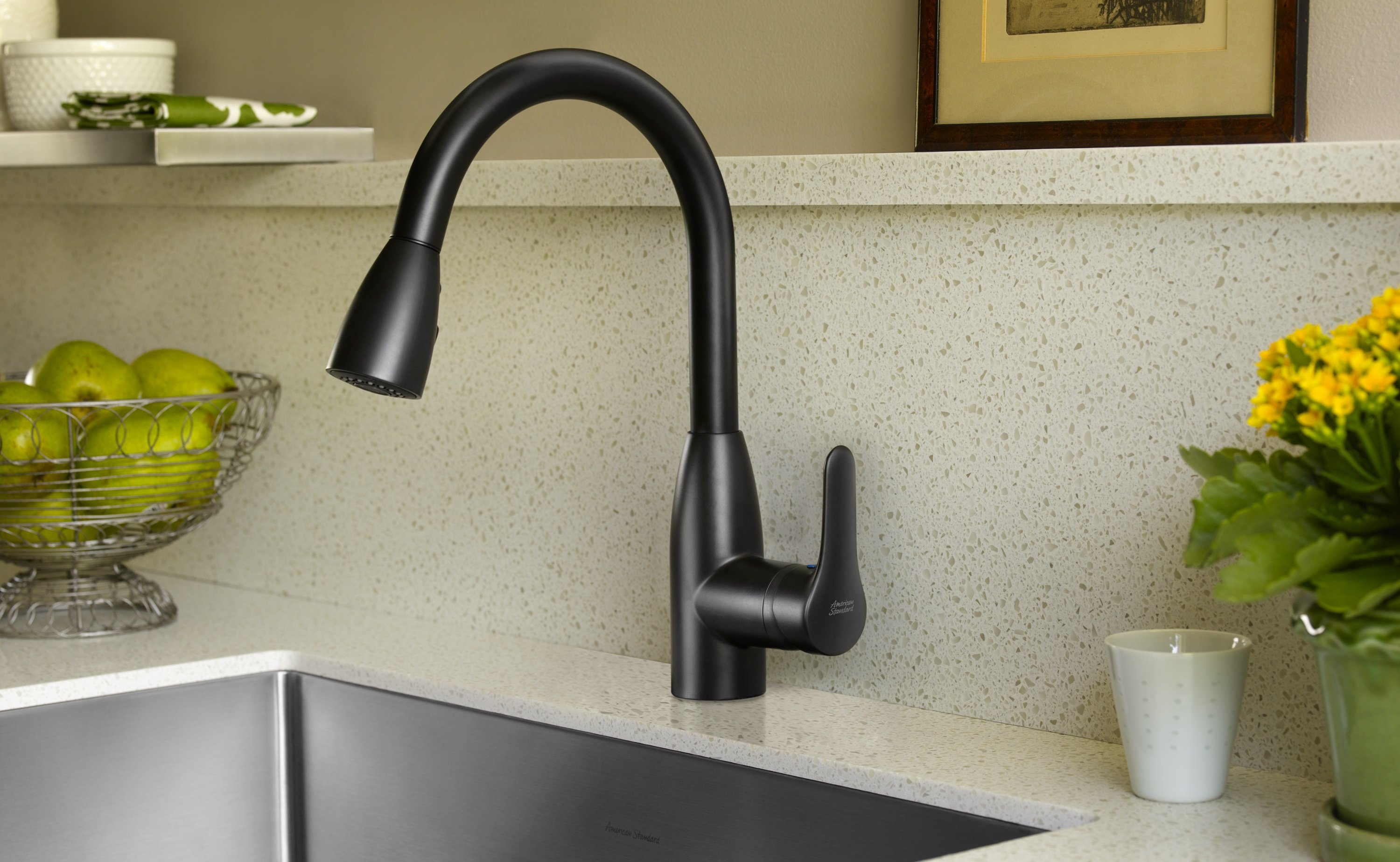 American Standard 4175.300.075 Colony Soft Pull-Down Kitchen Faucet ...