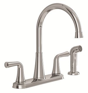 Stock photo of the Angeline kitchen faucet and side spray