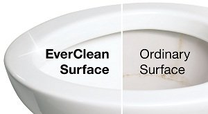 Compare an EverClean surface to an ordinary surface