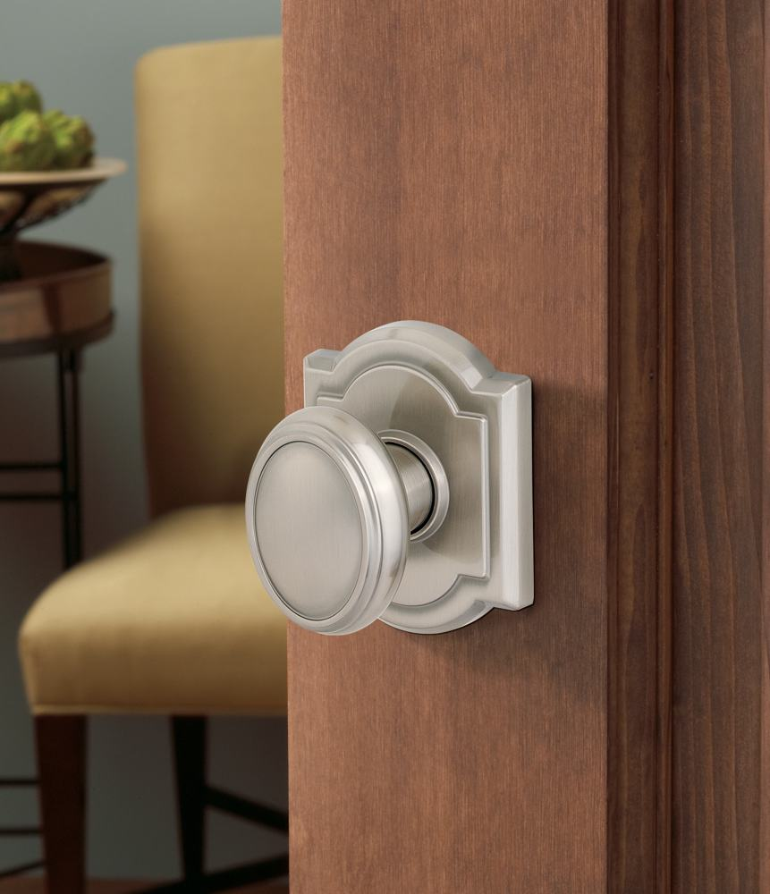 Carnaby satin nickel & Baldwin Prestige Carnaby Entry Knob featuring SmartKey in Satin ...