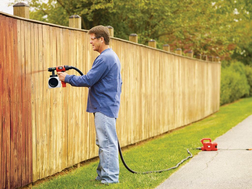 Black decker bdph400 smartselect hvlp sprayer spray paint gun black and decker - Exterior paint sprayers set ...