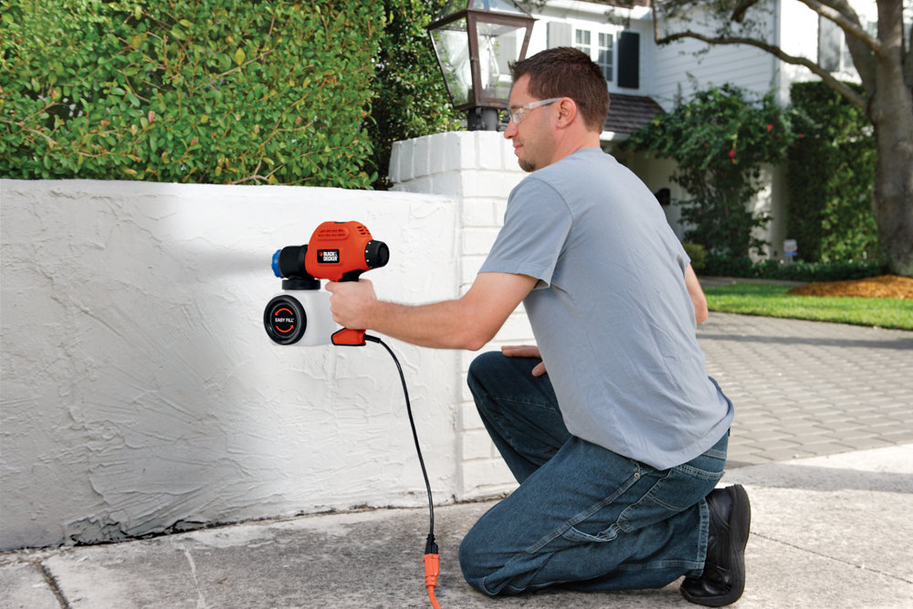 Black Decker Bdps200 Paint Sprayer With Side Fill Orange Paint Sprayers Amazon Canada