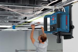 Bosch GRL 300 HVG self-leveling green rotary laser