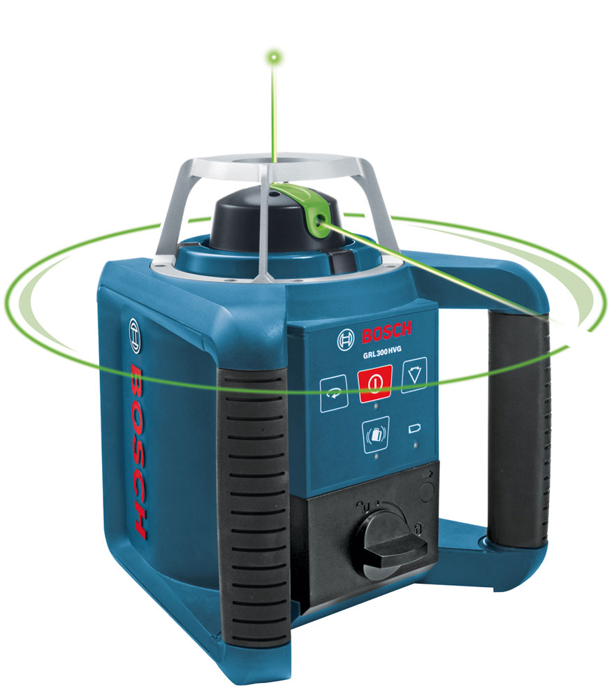 bosch grl300hvg self leveling green rotary laser with layout beam. Black Bedroom Furniture Sets. Home Design Ideas