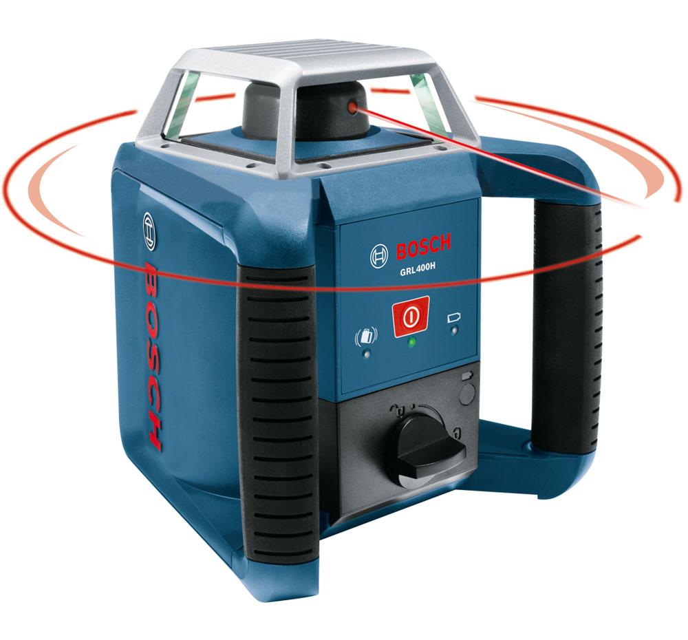 bosch grl400h self leveling rotary laser with laser receiver. Black Bedroom Furniture Sets. Home Design Ideas