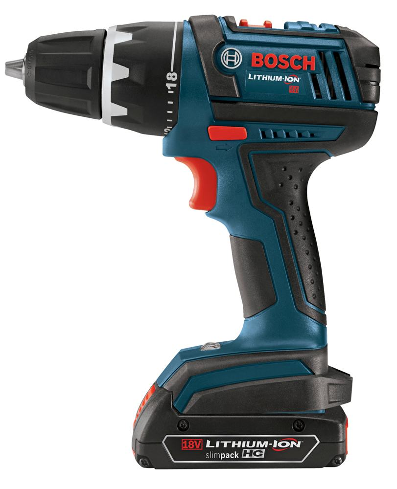 bosch dds181 02 18 volt lithium ion 1 2 inch compact tough drill driver kit with 2 high capacity. Black Bedroom Furniture Sets. Home Design Ideas