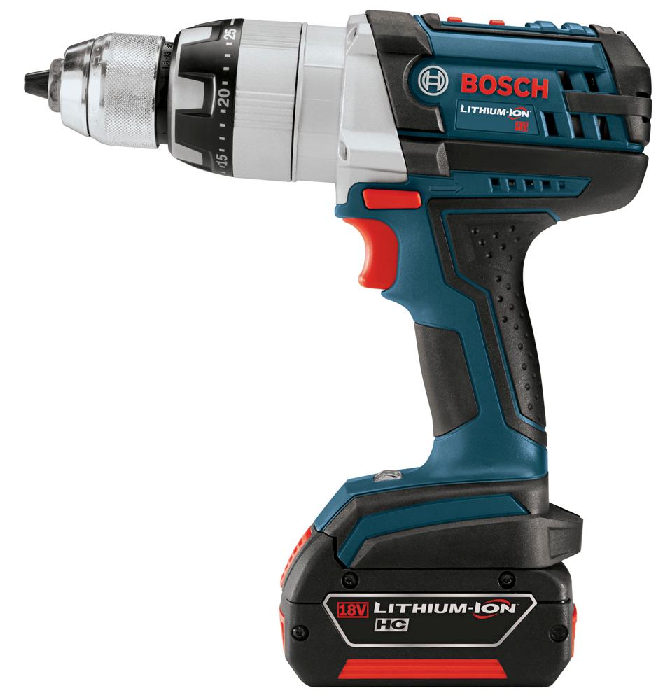 bosch hdh181 01 18 volt lithium ion brute tough 1 2 inch heavy duty hammer drill driver kit with. Black Bedroom Furniture Sets. Home Design Ideas