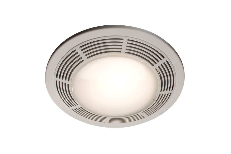 Broan 751. Broan 751 Fan and Light with Round White Grille and Glass Lens