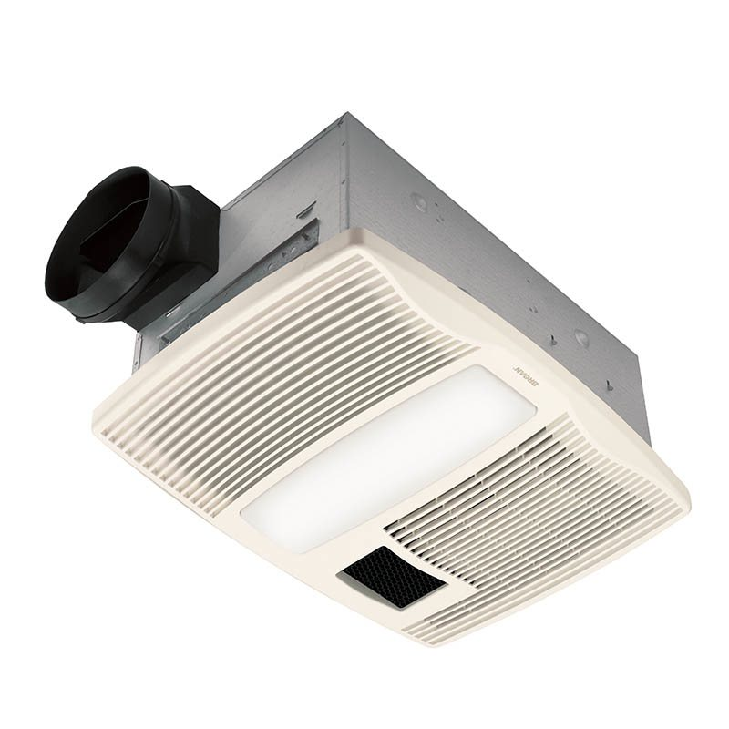 Broan qtx110hl ultra silent series bath fan with heater and light easy to install view larger aloadofball Image collections