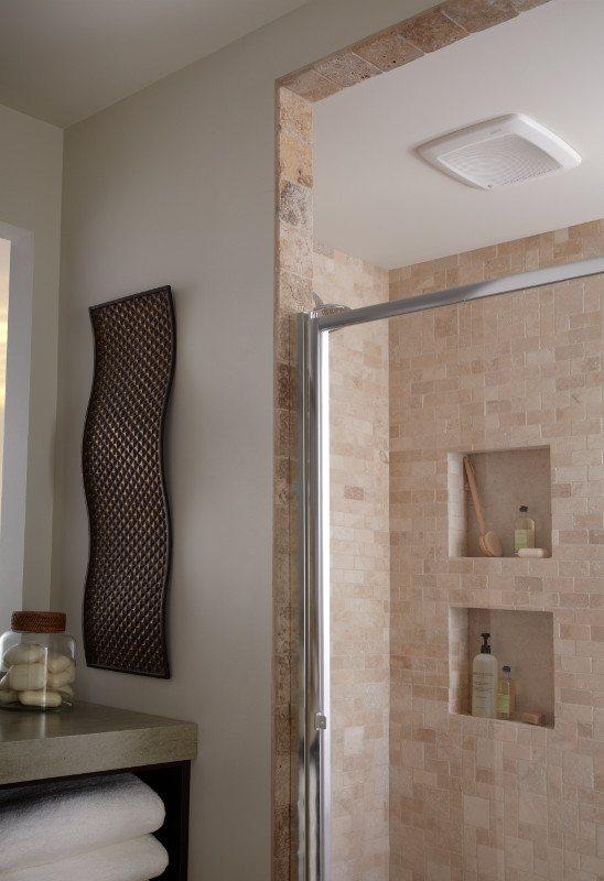 Broan QTRES Ultra Silent Humidity Sensing Fans With Sensaire - Humidity sensing bathroom fan for bathroom decor ideas