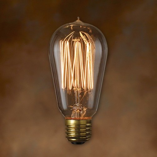 Excellent replica of antique light bulb ...