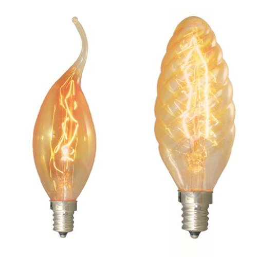Bulbrite 413115 15w nostalgic flame tip chandelier bulb chandelier bulb in flame tip and torpedo styles view larger aloadofball Gallery