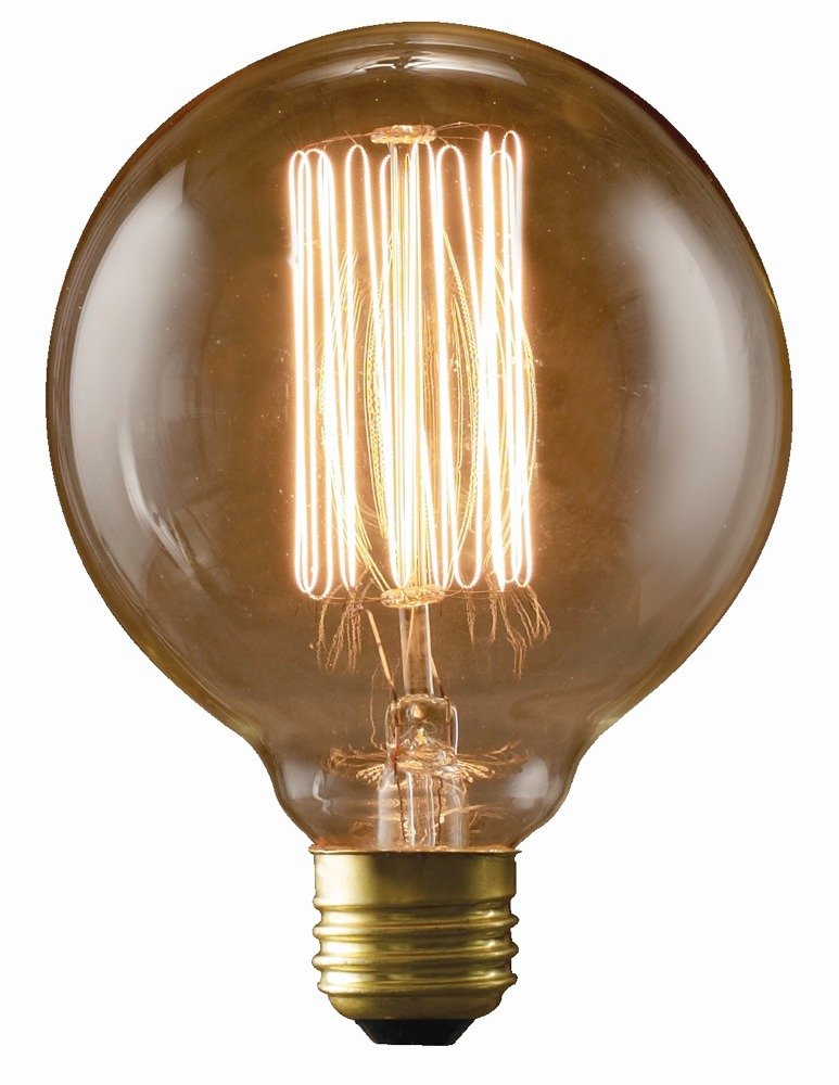 Bulbrite nos40g30 40w nostalgic g30 edison globe with for Where to buy halogen bulbs