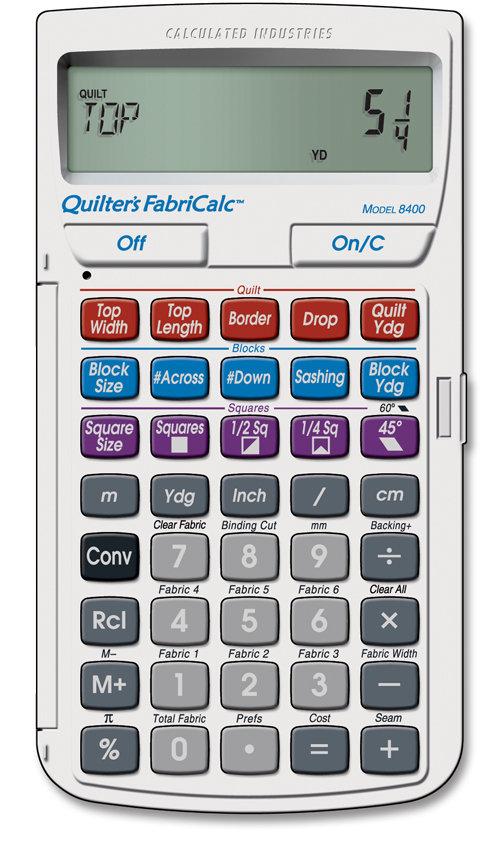 Amazon.com: Calculated Industries Quilter's FabriCalc Quilt Design ... : quilt backing calculator - Adamdwight.com